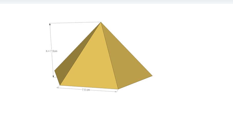 Sechsseitige Pyramide mit Bemaßung