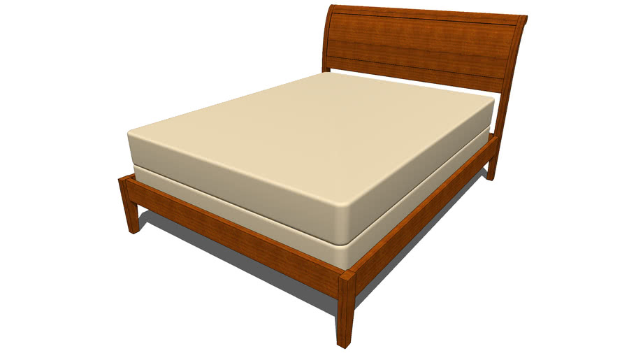 Sleigh Bed-Flat Footboard Queen