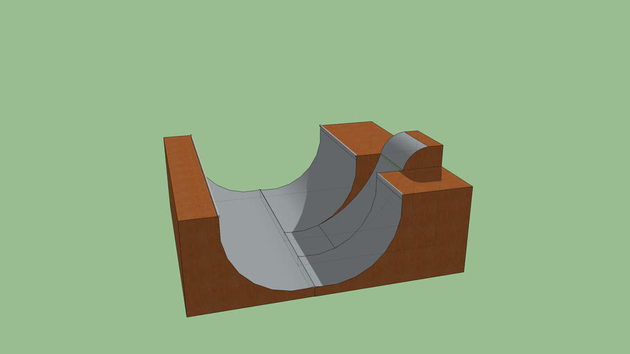 Half pipe w/ rolling ramp