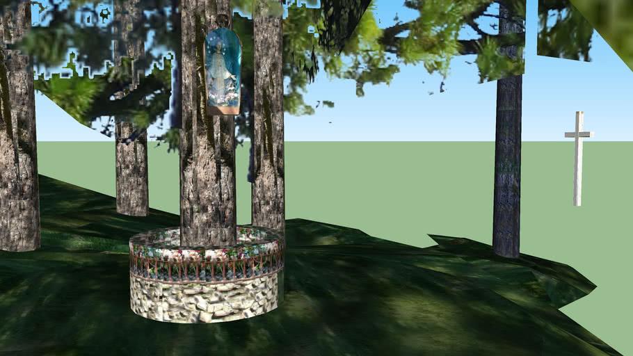 Modelo 3D do Monumento de Nossa Senhora do Carmo, nos Pinheiros de Garabandal, Espanha