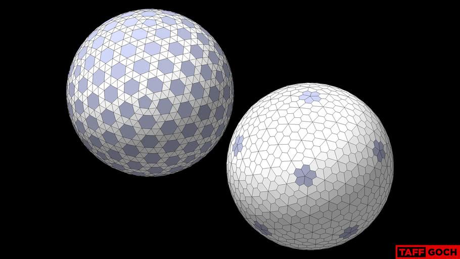 Floret Geodesic Tessellation {3,2}