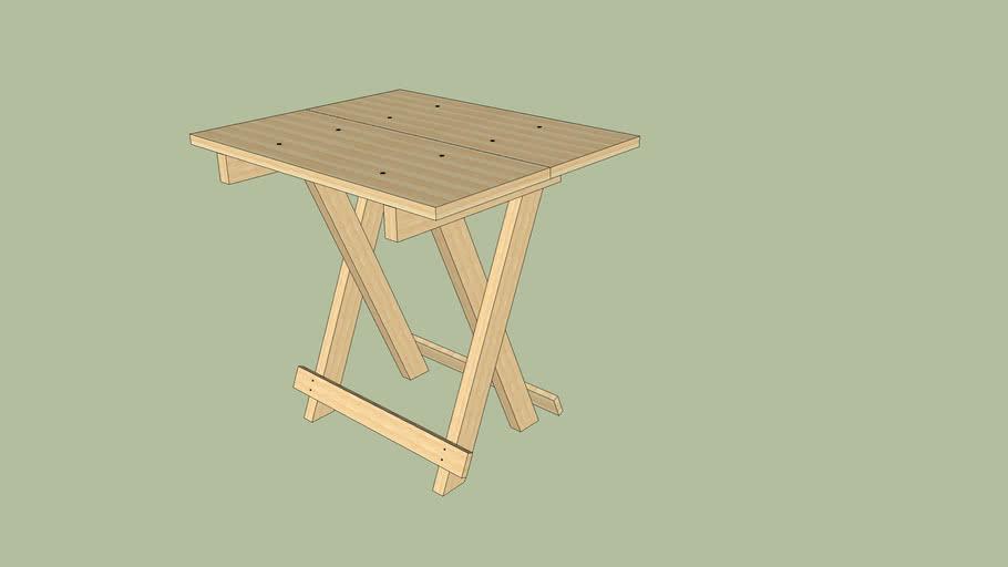 Wood Flip Table Animated