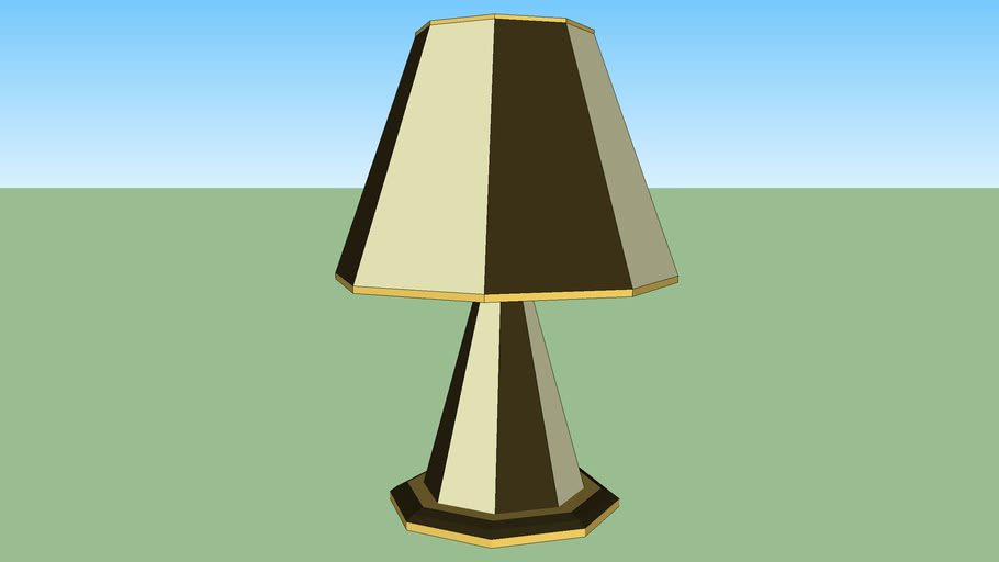 Table lamp gold brown & Biege