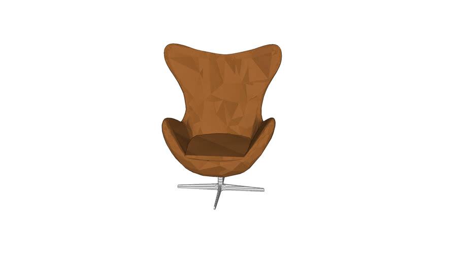 Formdecor Arne Jacobsen Egg Chair Camel Leather 3d Warehouse