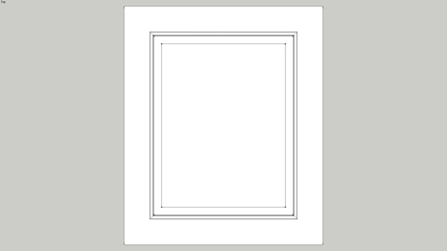 Kitchen Door Front (Raised and fielded for 60cm unit)