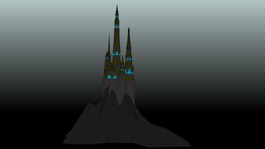 chateau dans la nuit / castle from a dream