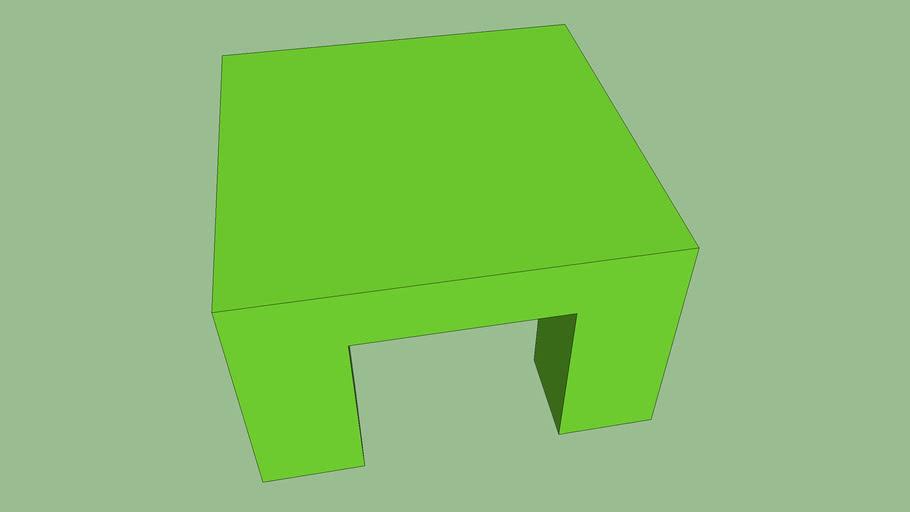 綠色四方桌