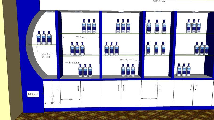 mẫu thiết kế shop bán rượu