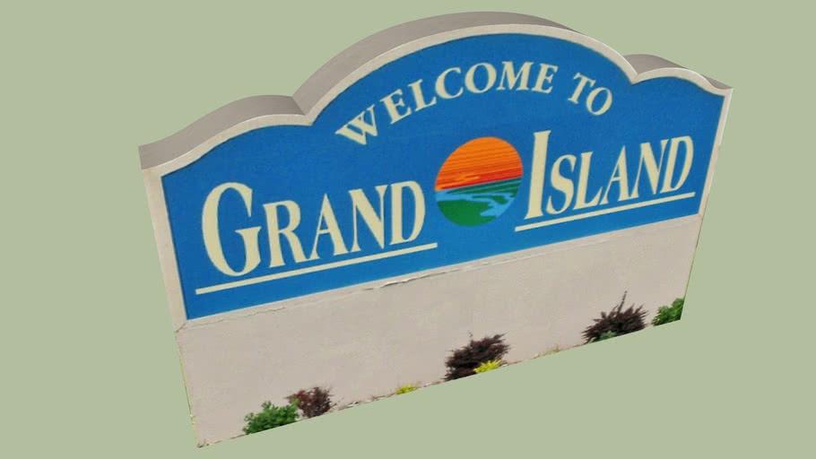 Welcome Sign Grand Island, Nebraska