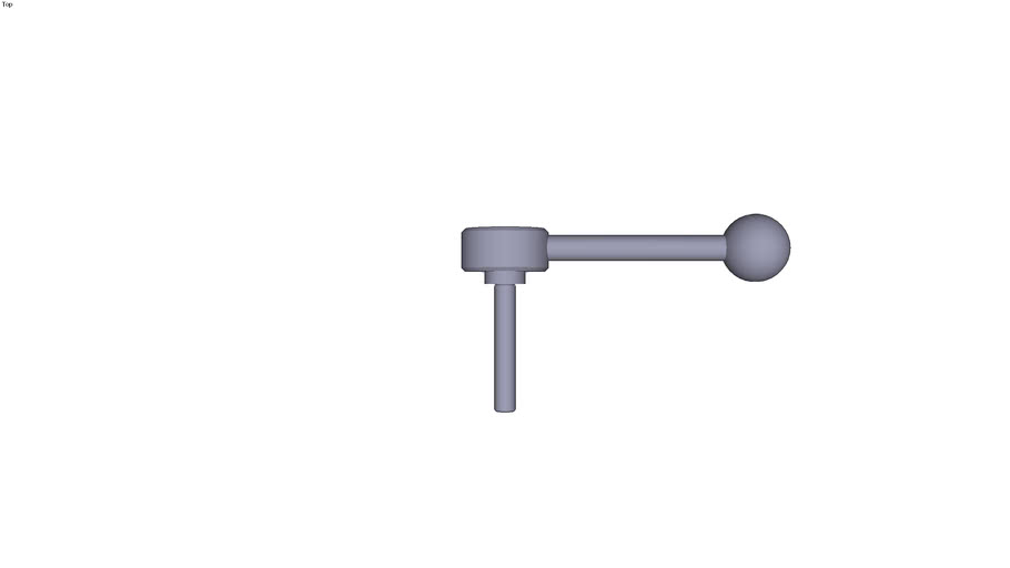Indexing flat tension lever external...0° size 2 M10  threaded rod length 60 mm