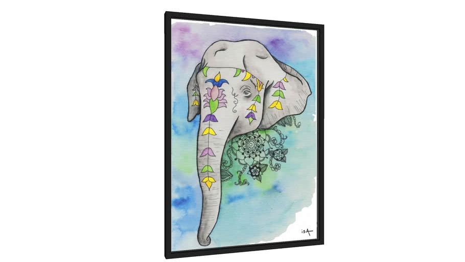 Quadro Elefante indiano - Galeria9, por Isa Yule
