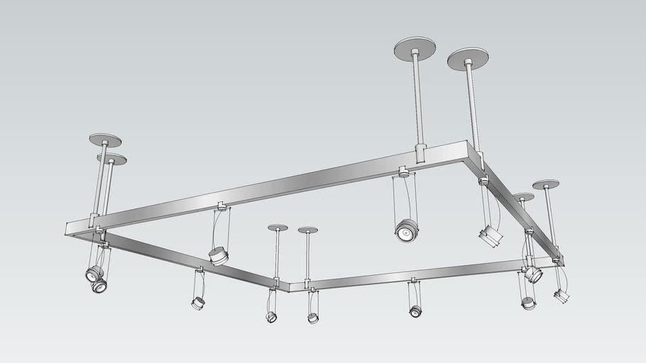 5 Sq Track Lighting System Warehouse