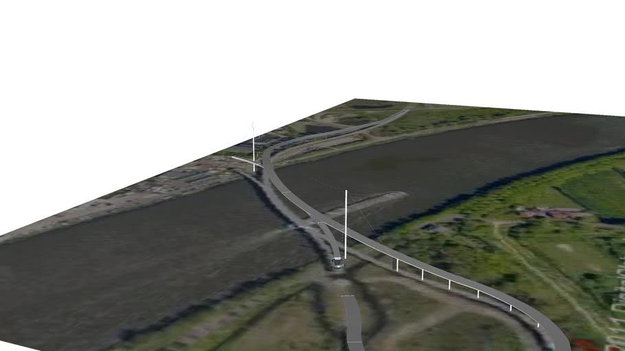 Nesciobrug in Amsterdam, Netherlands
