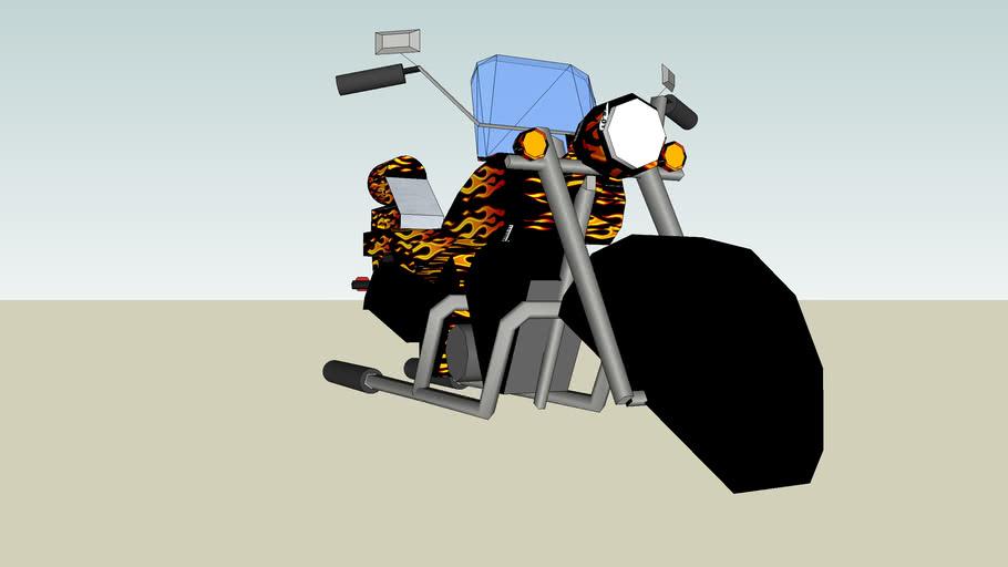 hover bike- flames
