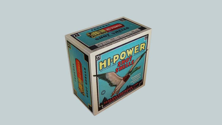 Old Federal Hi Power 12/70 ammo box