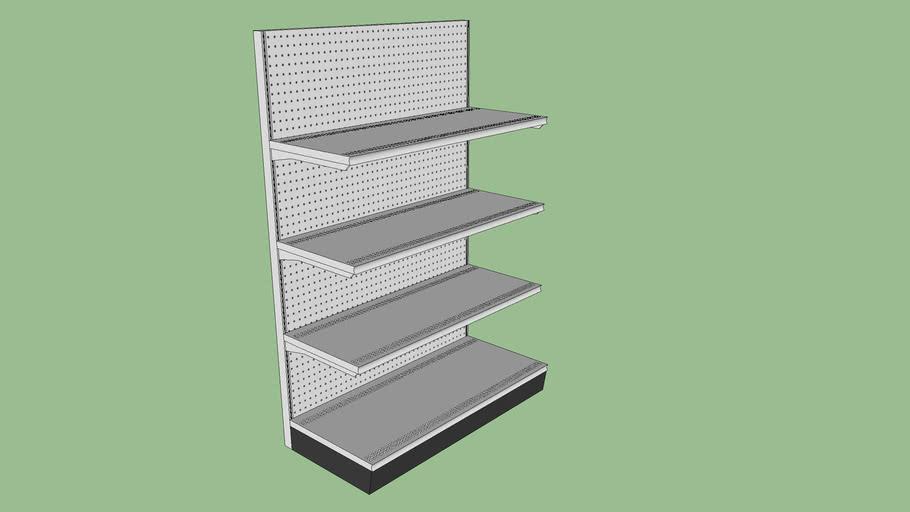 Gondola Shelving Unit (Shelves / Pegboard)