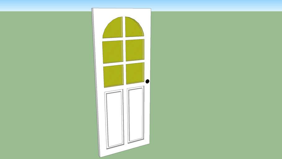 Front Door with Glass Panels