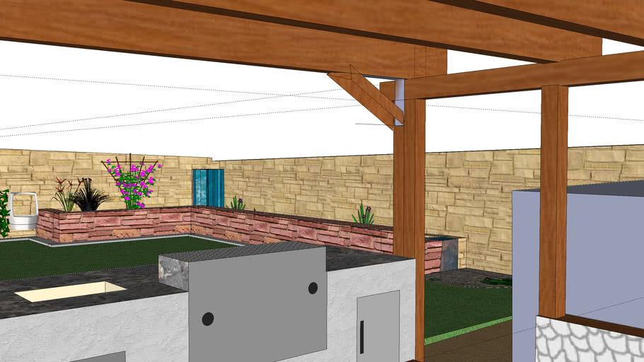 NiNETY's backyard landscape