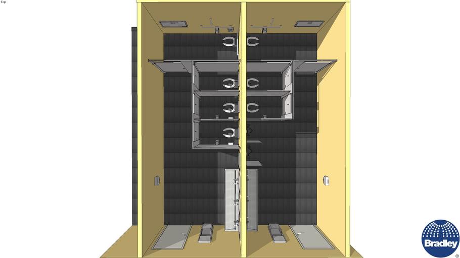 ADA Accessible Restroom 3 Stall - Verge-LVA