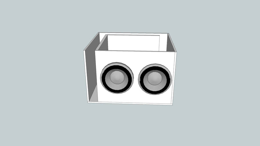 Subwoofer Poerted Box for 2 12's