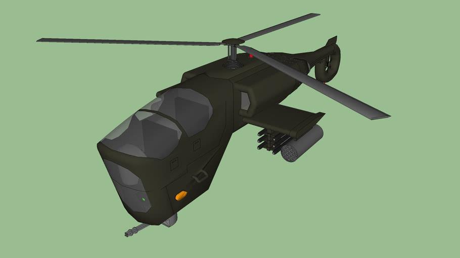 Hélicoptère de combat futurist