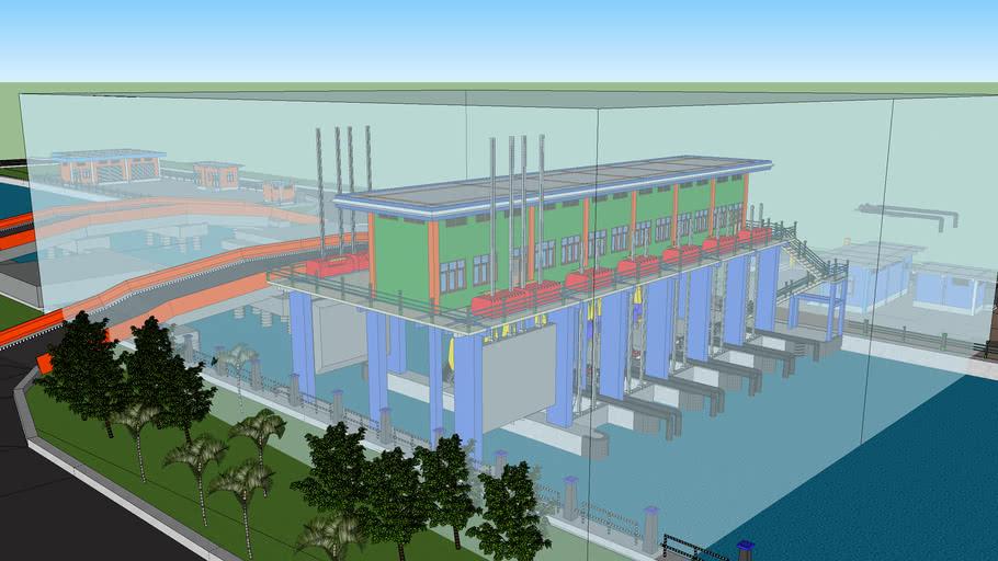 Rencana Pintu Air Petekan Surabaya