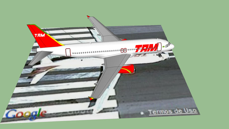 Airbus a320 TAM no Aeroporto de Brasilia.