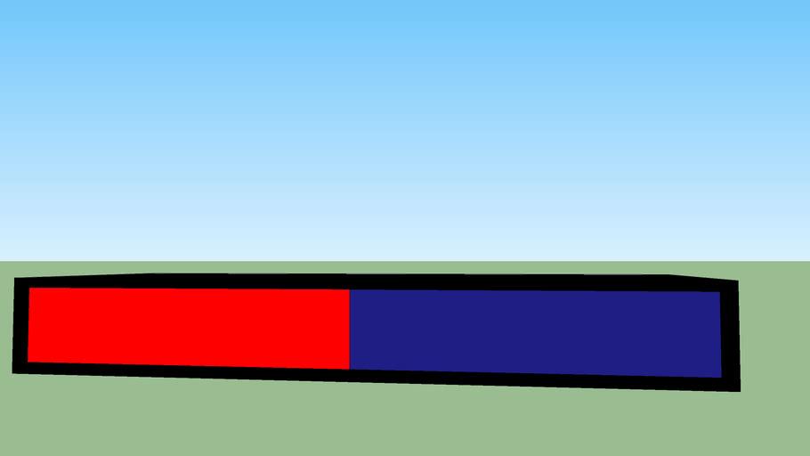 red-blue police light
