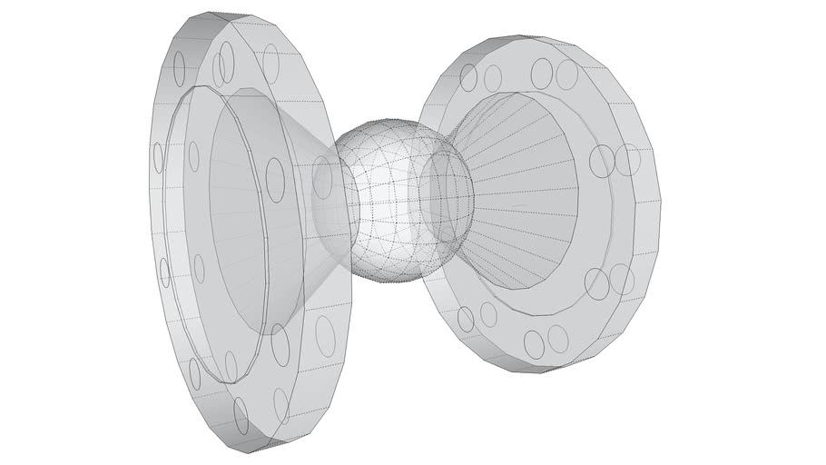 Ball Valve Schematic - DN 100 ANSI 150#