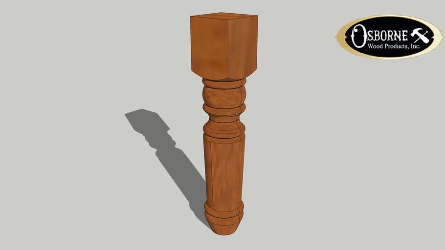 "Portsmouth Coffee Table Leg (18"" x 3 1/2"")"
