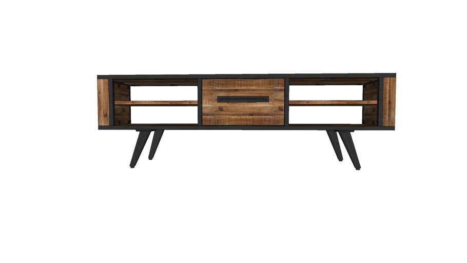 CUSCO TV150CM, DRAWER IN THE MIDDLE, 4 NICHES AT 2 SIDES