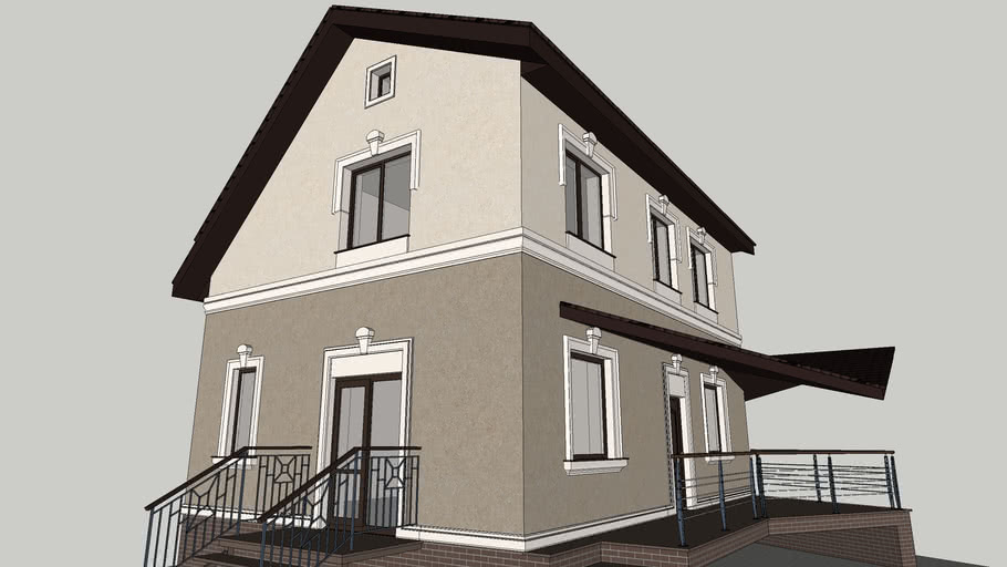 Brown Combinations of Exterior House with Brown Roof