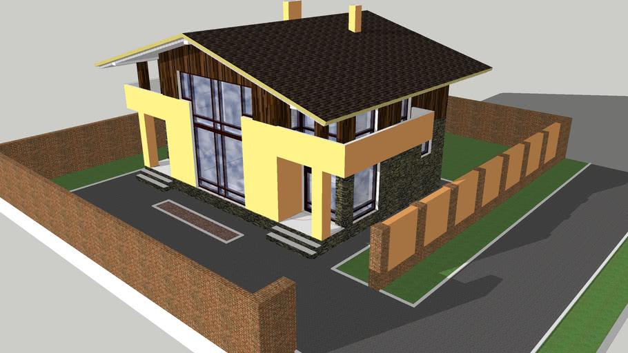 Building house загородный дом дача тип 007