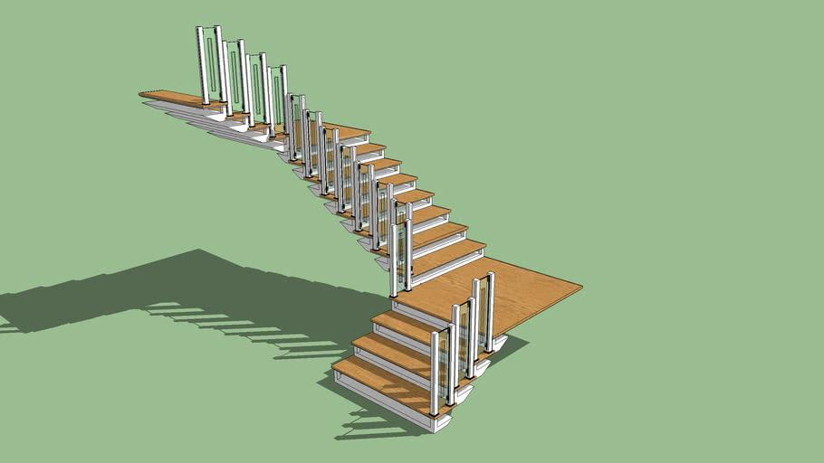 Escada em metal Shark