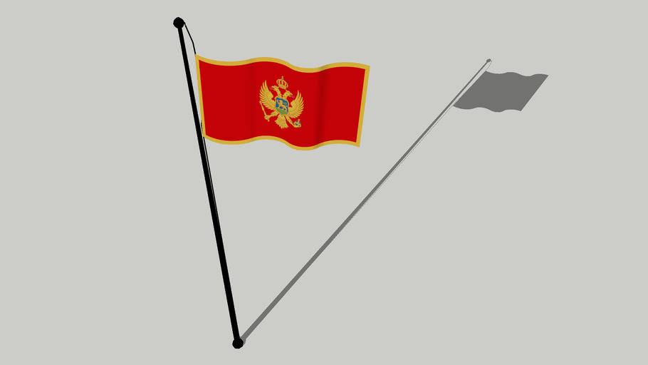 Flag of Montenegro - Zastava Crne Gore - Застава Црне Горе - Flamuri i Malit të Zi