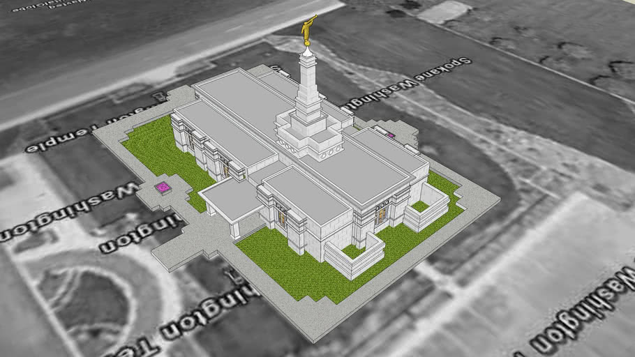 LDS Temple Spokane Washington Templo. 39 th operating temple.