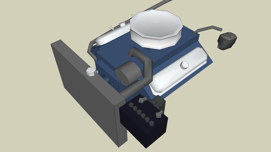 V8 engine of the tuned GTO