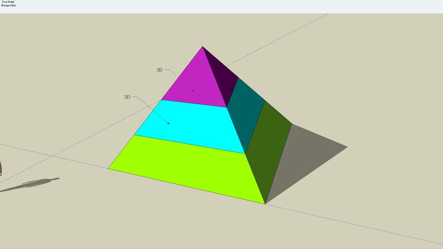 Pyramid tricolore