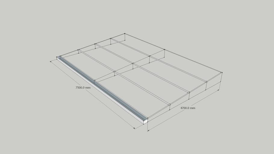 nadstresnica sa žlijebom za odvoz vode)canopy with drain profile
