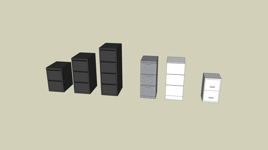 2, 3 & 4-drawer filing cabinets