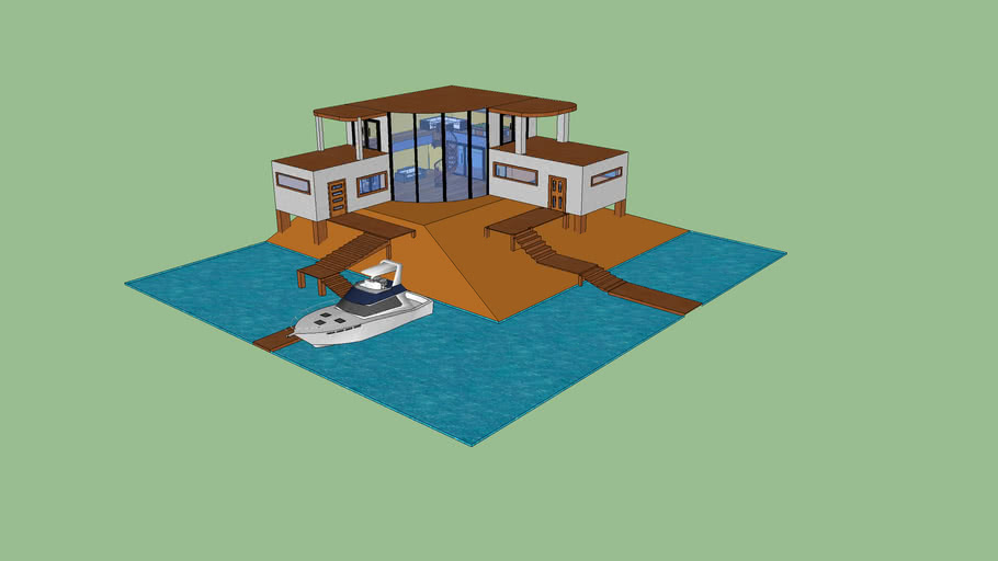 house in sea