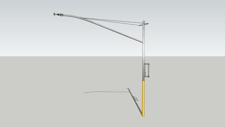 Boomed mast arm