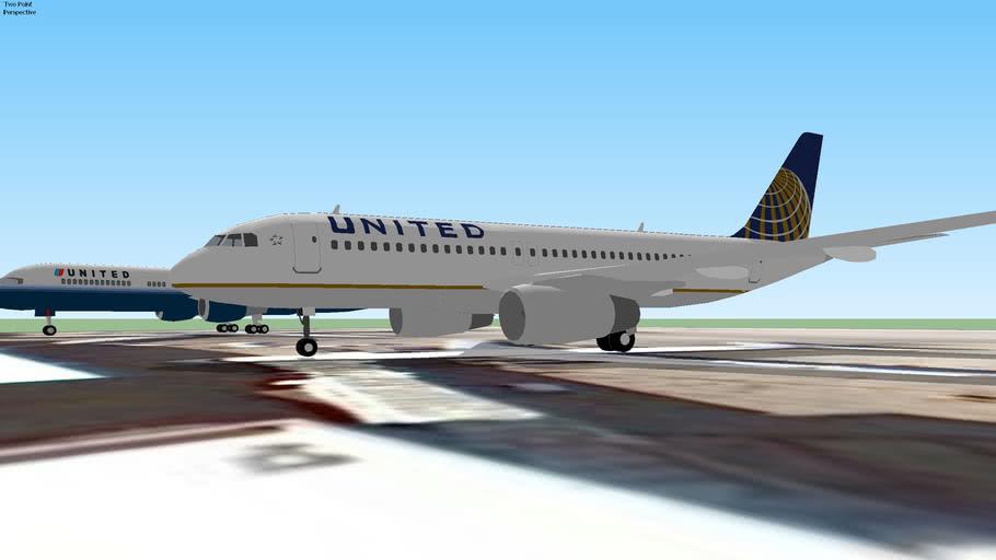 Airplanes at Miami International Airport, Miami, USA.