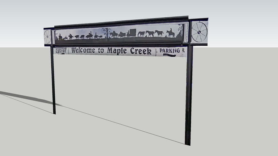Welcome to Maple Creek Sign