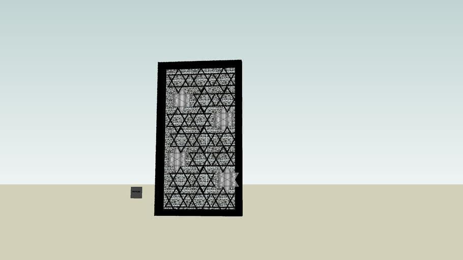 mughal-arabian star ceiling or wall