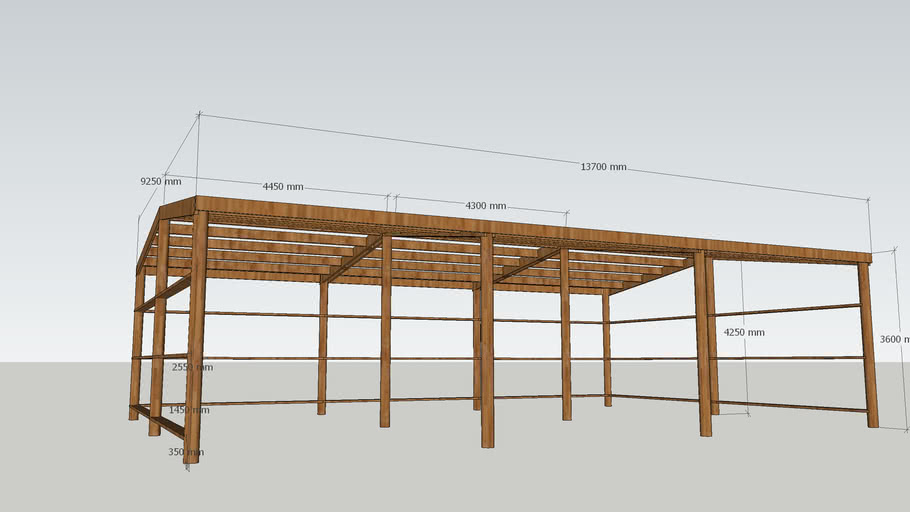 Gable pole shed framing