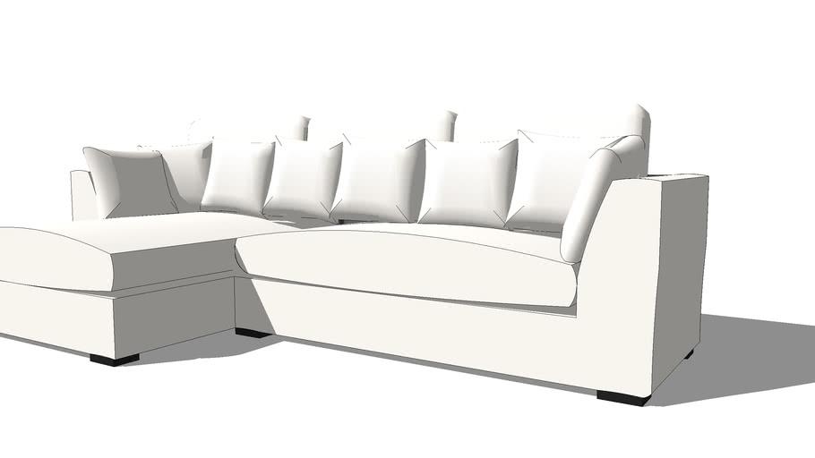 Canapé d'angle blanc