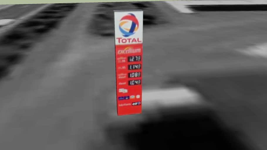 Relais carburant Total, borne de prix