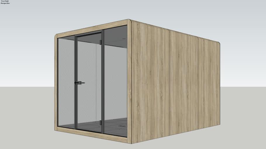 Silen Space 6 Oak Veneer Office Pod