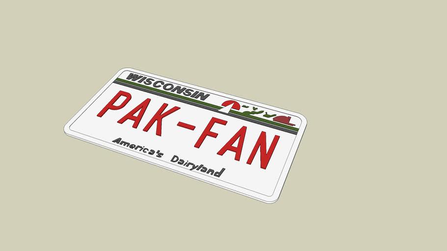 packer fan license plate